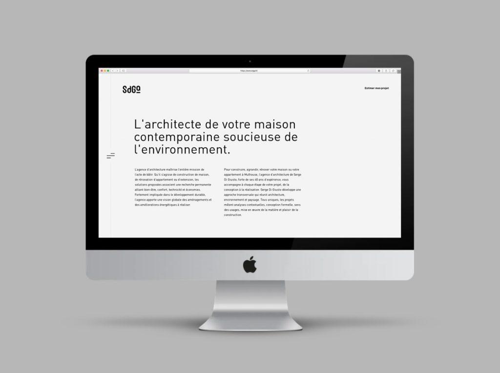 Site internet d'architecte à Mulhouse